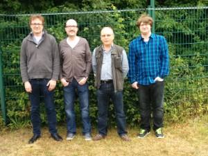 Die Kamener Spieler, von links: Dr. Christian Weidemann, Frank Kleinegger, Heinz Georg, Chris Huckebrink. In den Vorrunden haben ausserdem noch Udo Seepe und Thomas Wiese mitgeholfen, dass der SV Kamen 1930 so weit gekommen ist.